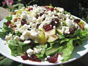 Pecan Pear Salad with Goat Cheese (Espinosa Kitchen)