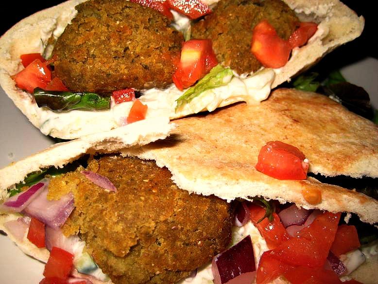 Falafel Burgers With Feta Tzatziki Sauce Recipes — Dishmaps