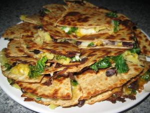 Sweet Potato and Black Bean Quesadillas (www.espinosakitchen.wordpress.com)