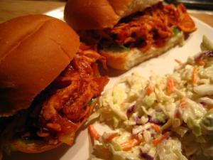 Pulled Chicken Sandwiches with Coleslaw (www.espinosakitchen.wordpress.com)