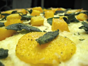 Butternut Squash Pizza with Fresh Thyme and Sage (espinosakitchen.wordpress.com)
