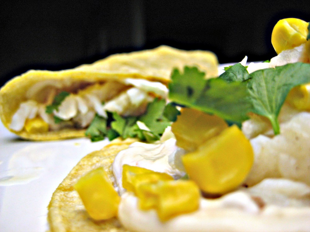 Fish Tacos with Chipotle Cream Sauce (1/2)