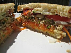 Sunflower Veggie Sandwich (Espinosa Kitchen)