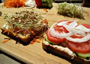 Sunflower Veggie Sandwich