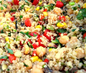 Lemon Basil Quinoa Vegetable Salad (Espinosa Kitchen)