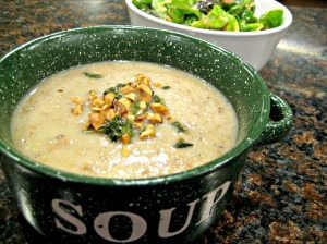 Creamy Roasted Hazelnut Soup with Crispy Sage (Espinosa Kitchen)