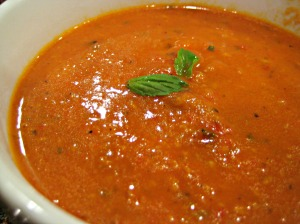 Roasted Red Pepper with Smoked Gouda Soup (Espinosa Kitchen)
