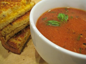 Tomato Basil Soup with Grilled Cheese (Espinosa Kitchen)